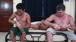 Tickling Gives Asian Boy Hard Dick