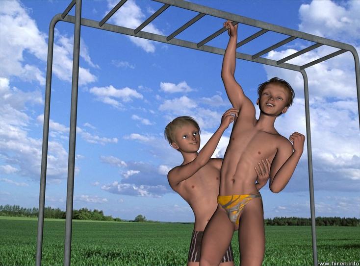 More Cartoon Ticklish Boys Next Door