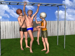 Cartoon Tickling: Ticklish Boys CG Art