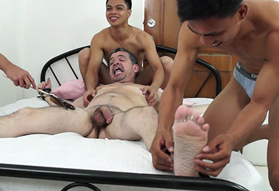 Twinks Get Tickle Revenge On Daddy