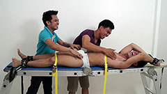 Asian boy Jeff Racked And Tickled relentlessly