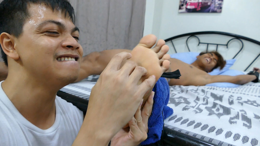 Asian Hottie Rizal is Ticklish